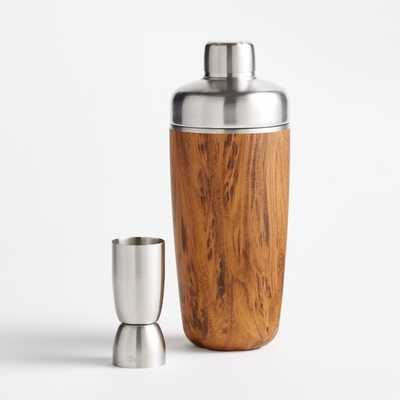 S'well Teakwood Cocktail Shaker Set - Crate and Barrel