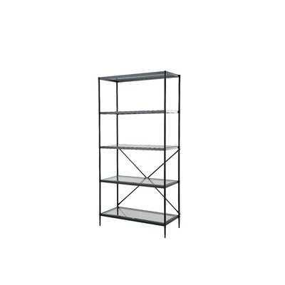 "Guercio 70.9"" H x 35.5"" W Glass Etagere Bookcase - Wayfair"