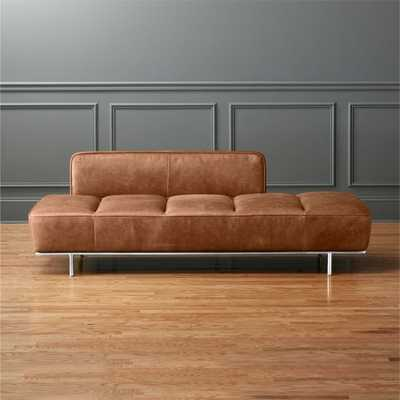 Lawndale Saddle Leather Daybed with Chrome Base - CB2