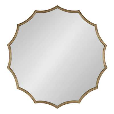 Kate and Laurel Lalina Round Gold Wall Mirror - Home Depot