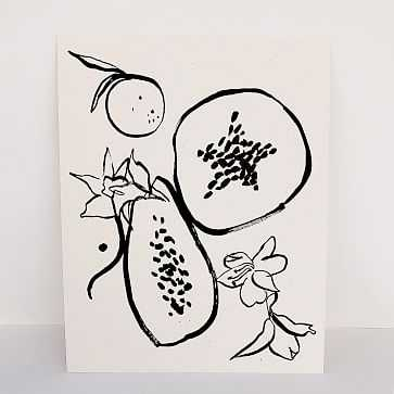 "Les Fruits Art Print, 11""x14"" - West Elm"