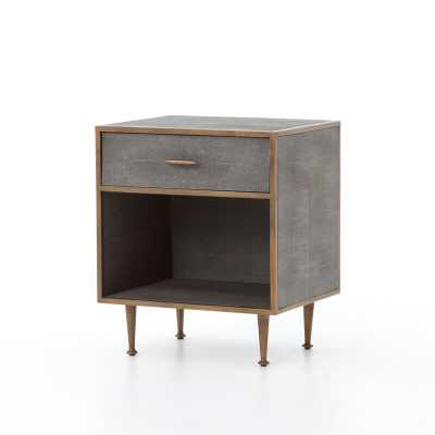 Four Hands Shagreen 1 Drawer Nightstand - Perigold