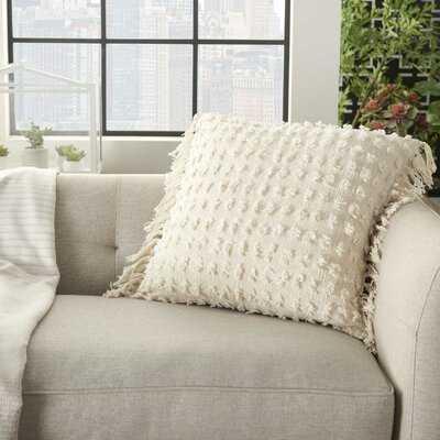 "Tribble Cotton Polka Dots 20"" Throw Pillow - Wayfair"