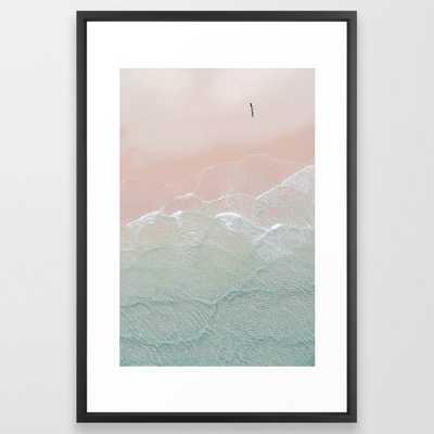 Ocean Walk Ii Framed Art Print by Ingrid Beddoes Photography - Vector Black - LARGE (Gallery)-26x38 - Society6