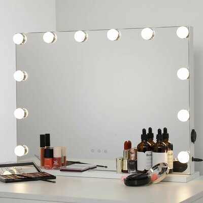 Gerlad Beveled  Frameless Lighted Vanity Mirror - Wayfair