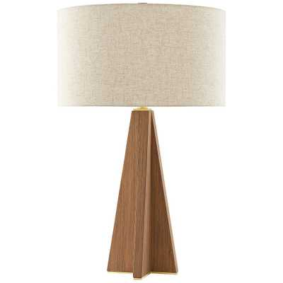 Currey and Company Virtuosa Teak Wood Table Lamp - Style # 88N56 - Lamps Plus