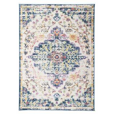 Hartig Oriental Dark Blue Area Rug 9 x 12 - Wayfair