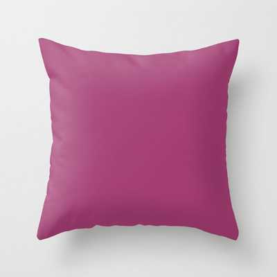 """Raspberry X Simple Color Couch Throw Pillow by Leah Flores - Cover (16"""" x 16"""") with pillow insert - Indoor Pillow - Society6"""