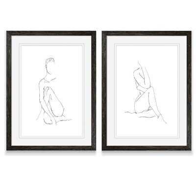 'Nude Contour Sketch I' by Vincent Van Gogh - 2 Piece Picture Frame Drawing Print Print Set - Wayfair