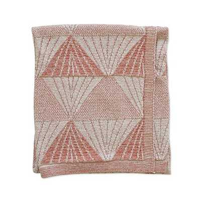 Mountain Texture Cotton Terracotta And Blush Recycled Cotton Throw - West Elm