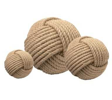 Decorative Jute Balls, Set of 3 - Pottery Barn