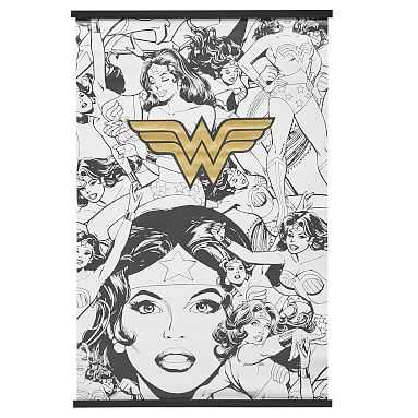 Warner Bros Wall Murals : Wonder Woman : Black And White : 36x48 - Pottery Barn Teen