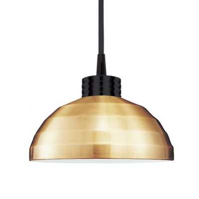 WAC Lighting Industrial Felis 1-Light Pendant Finish: Brushed Nickel, Shade Color: Copper - Perigold