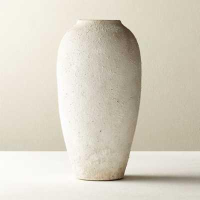 Torino White Textured Vase - CB2