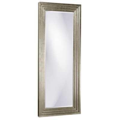 "Delano Modern & Comtemporary Beveled Full Length Mirror Size: 82"" x 34"", Finish: Silver - Perigold"