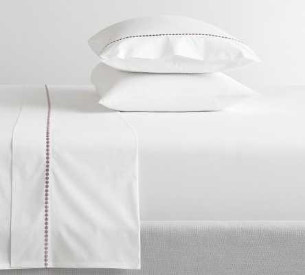 Twilight Pearl Organic Percale Sheet Set, King - Pottery Barn