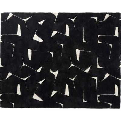 Sway Black Tufted Rug 8'x10' - CB2
