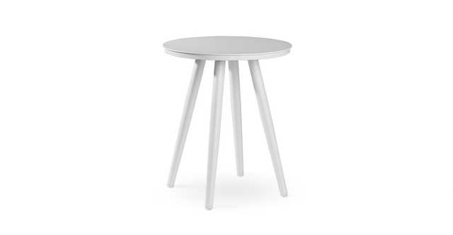 "Halden Alpine White 16"" Round Side Table - Article"
