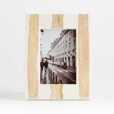 Zuri Striped Picture Frame 4x6 - Crate and Barrel