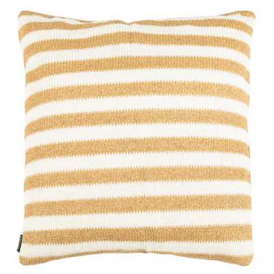 Safavieh Glenna White/Yellow Square Outdoor Throw Pillow - Home Depot