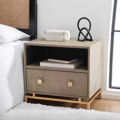 Hanston 1 Shelf 1 Drawer Nightstand - Wayfair