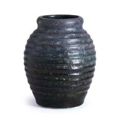 "Vamyr Aged Charcoal 11"" Terracotta Table Vase - Wayfair"