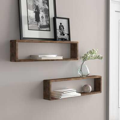 Abbott Stackable Long Box 2 Piece Wall Shelf Set - Wayfair