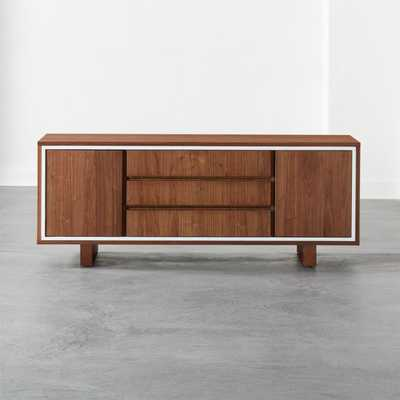 Trim Walnut Media Credenza - CB2
