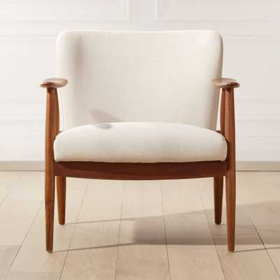 Troubadour Natural Wood Frame Chair - CB2