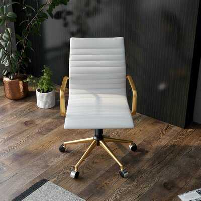 Office Ergonomic Polyurethane Conference Chair - Wayfair