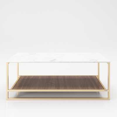 Olivia Frame Coffee Table with Storage - Wayfair