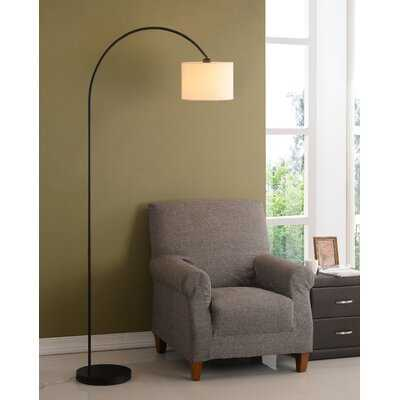 "Montes 80"" Arched Floor Lamp - Antique Brass - Birch Lane"
