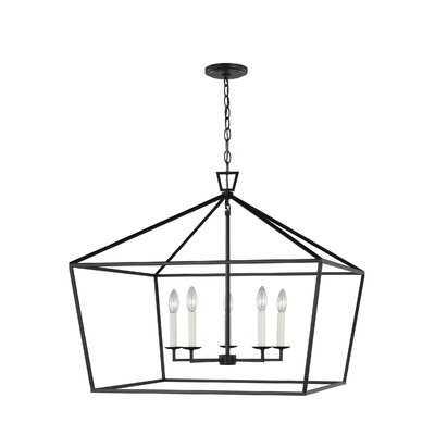 Ellette 5 - Light Lantern Geometric Chandelier - Wayfair