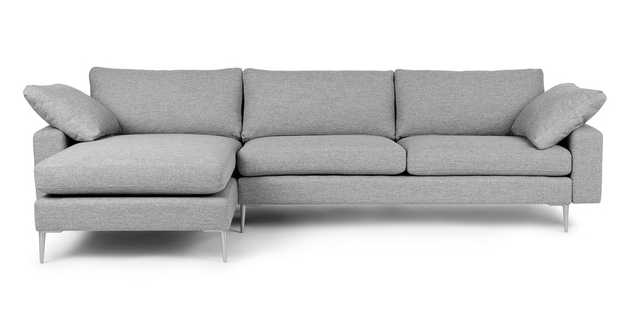Nova Winter Gray Reversible Sectional - Article