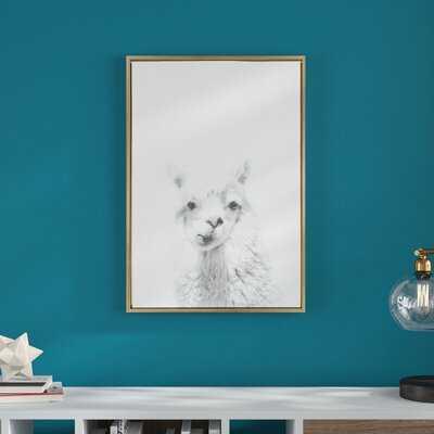 Sylvie Natural Alpaca by Simon Te Tai - Photograph Print on Canvas - Wayfair