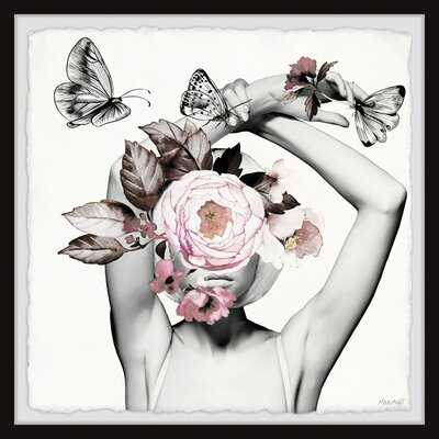 'Bloom and Butterflies' - Picture Frame Graphic Art Print on Paper - Wayfair