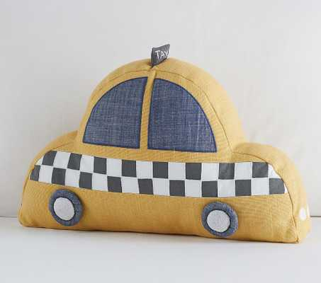 Glow In The Dark Taxi Pillow, Shaped, Multi - Pottery Barn Kids