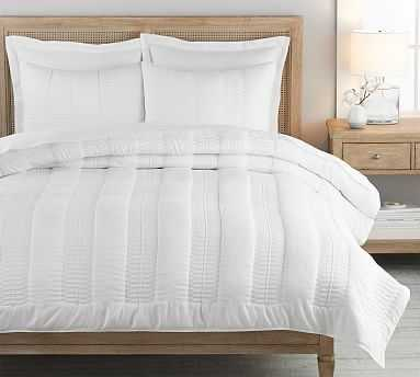 Washed TENCEL(TM) Quilt, King/Cal King, White - Pottery Barn
