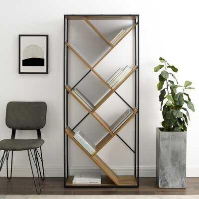 "Jacobus 68"" H x 30"" W Metal Geometric Bookcase - Wayfair"