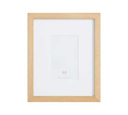 "Wood Gallery Single Opening Frame - 4x6 (9x11"" without mat) - Natural - Pottery Barn"