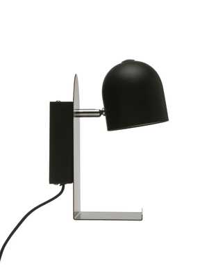 Metal LED Wall Sconce with Plug, Shelf, USB Port & Touch Switch - Moss & Wilder