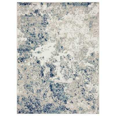 Ellenburg Abstract Ivory/Blue Area Rug - Wayfair