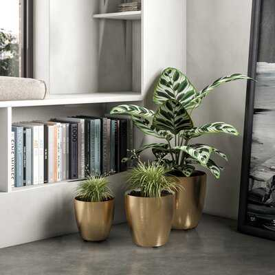 Ludovico 3-Piece Metal Pot Planter Set - AllModern