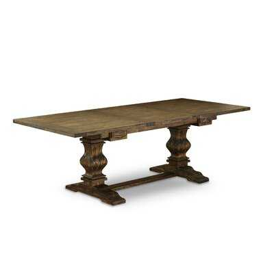 Pridmore Extendable Rubberwood Solid Wood Dining Table - Wayfair