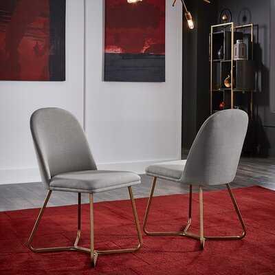Phinney Linen Upholstered Side Chair in Beige - Wayfair