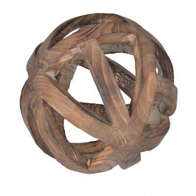 Mcmakin Natural Decorative Wood Ball Sculpture - Wayfair