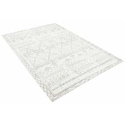 """Bespoky Vintage Rugs Geometric Gray Area Rug Rug Size: Rectangle 5'3"""" x 7'7"""" - Perigold"""