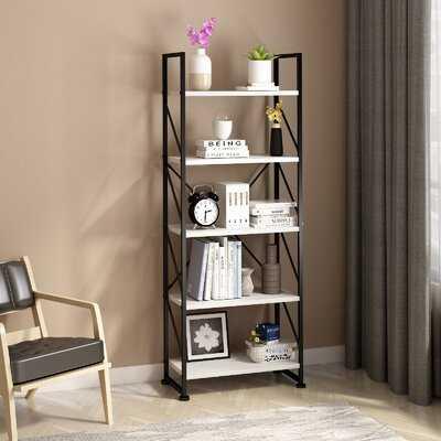 """62.2"""" H x 23.6"""" W Iron Etagere Bookcase - Wayfair"""