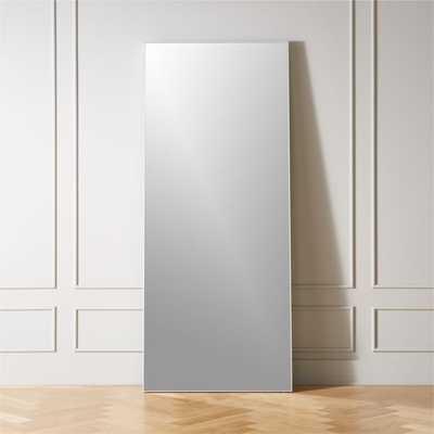 """Infinity White Floor Mirror 32""""x76"""" - CB2"""