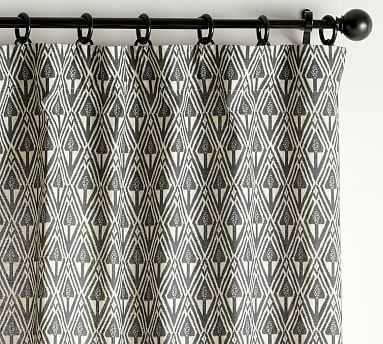"Mitzi Print Blackout Curtain, Charcoal Multi, 96 x 50"" - Pottery Barn"